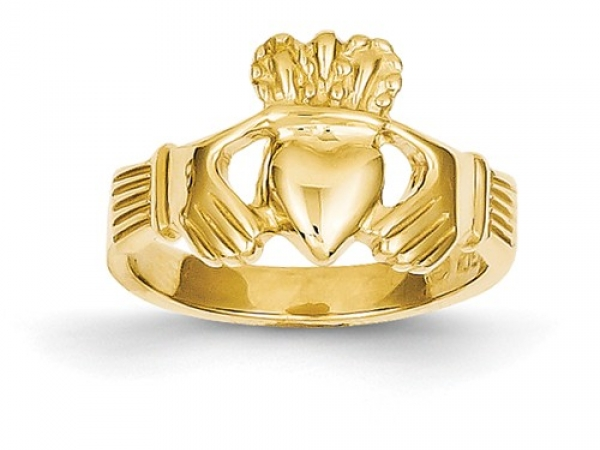 14 KARAT GOLD CLADDAUGH RING by Quality Gold
